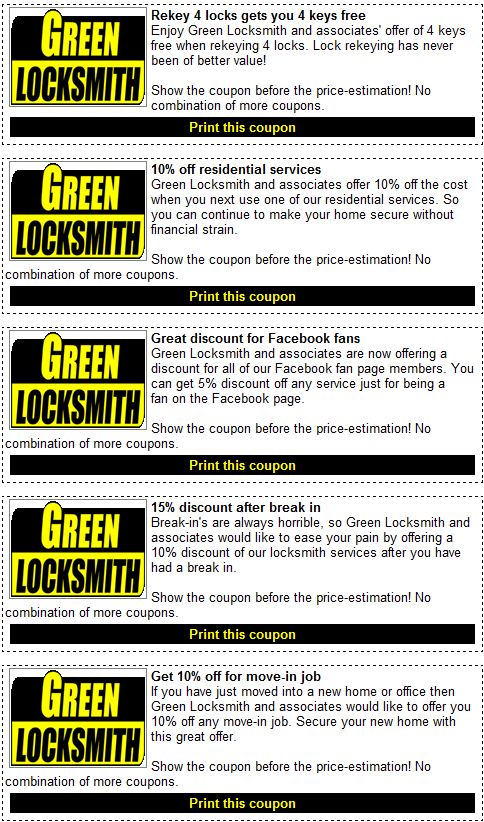 Locksmith Discounts