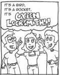 Green Locksmith Superhero